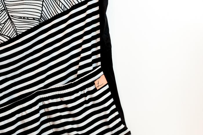 Lumiere Cycling Natural Stripe Jersey - back pocket logo tab