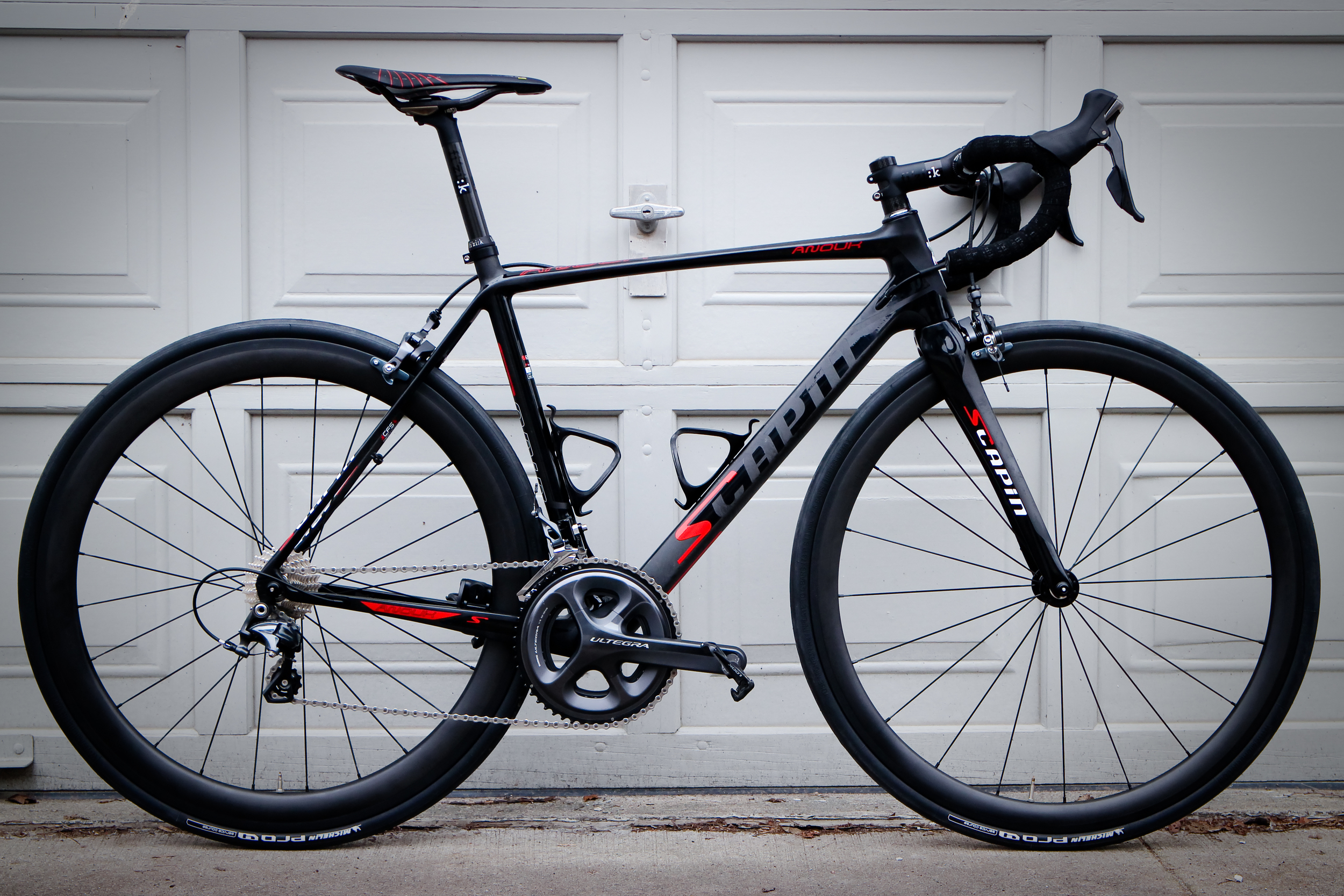 Yishun carbon 38/55mm U-shape carbon clinchers on the Scapin Anouk