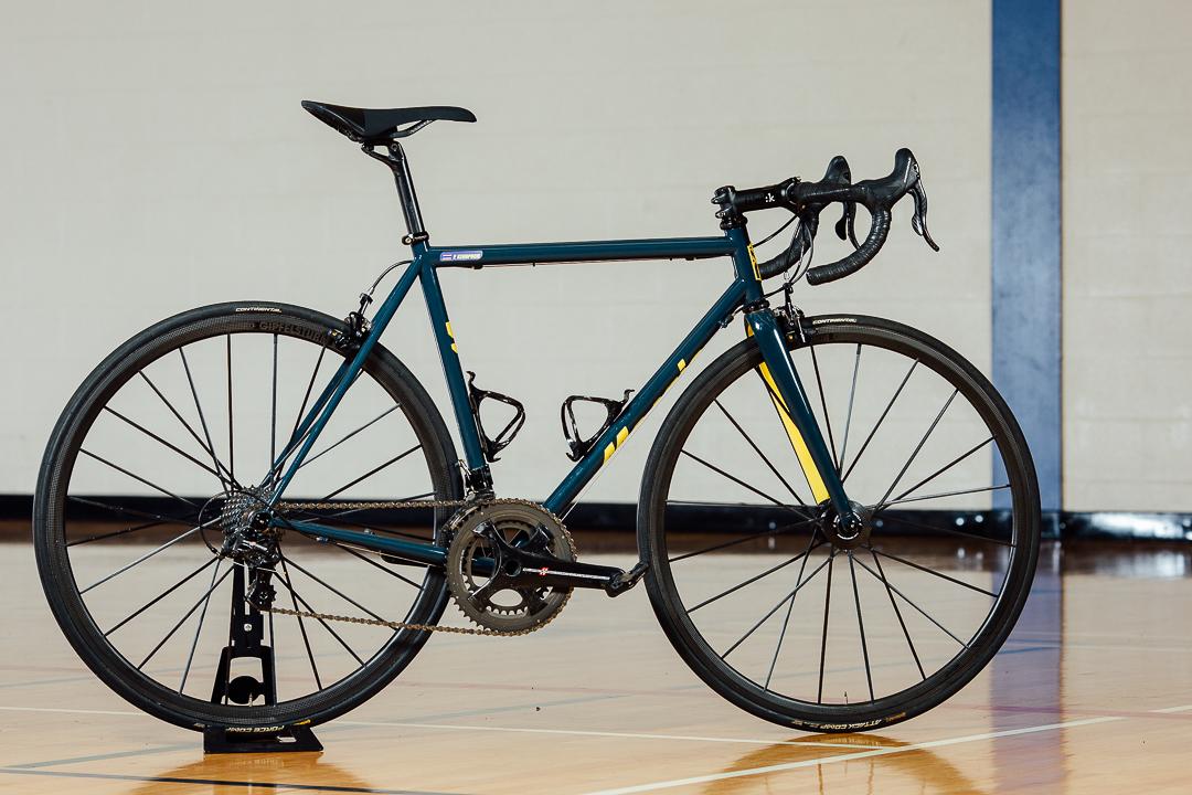 Pauls University of Michigan Wolverines #5 Jalen Rose themed Mosaic Bespoke Bicycle