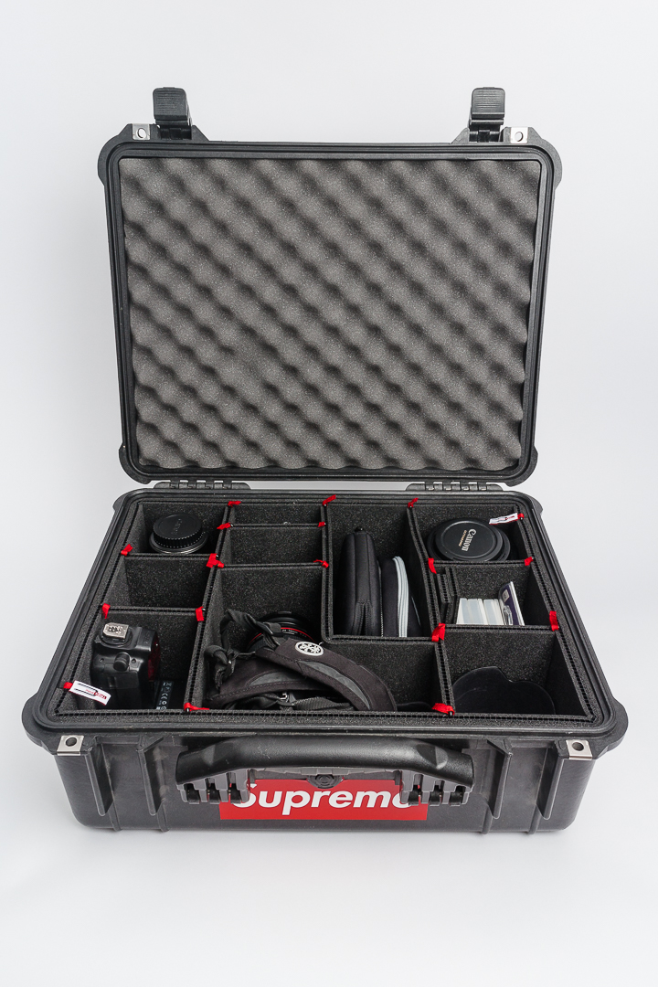 My Pelican 1550 case all cleaned up and organized with the Trek Pak installed.