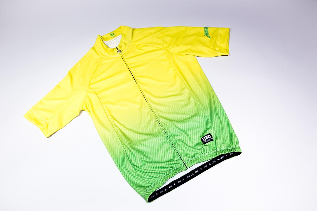Team Dream Bicycling Team - Lemon Lime Thin Stripe Fade Jersey