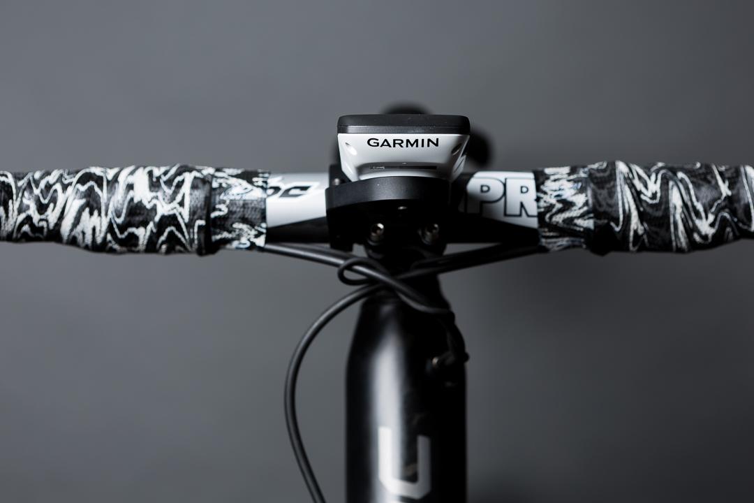 Lizard Skin black camo bar tap on the Pro Vibe UD Carbon bar and stem of Jason's BMC SLR01 Team Machine