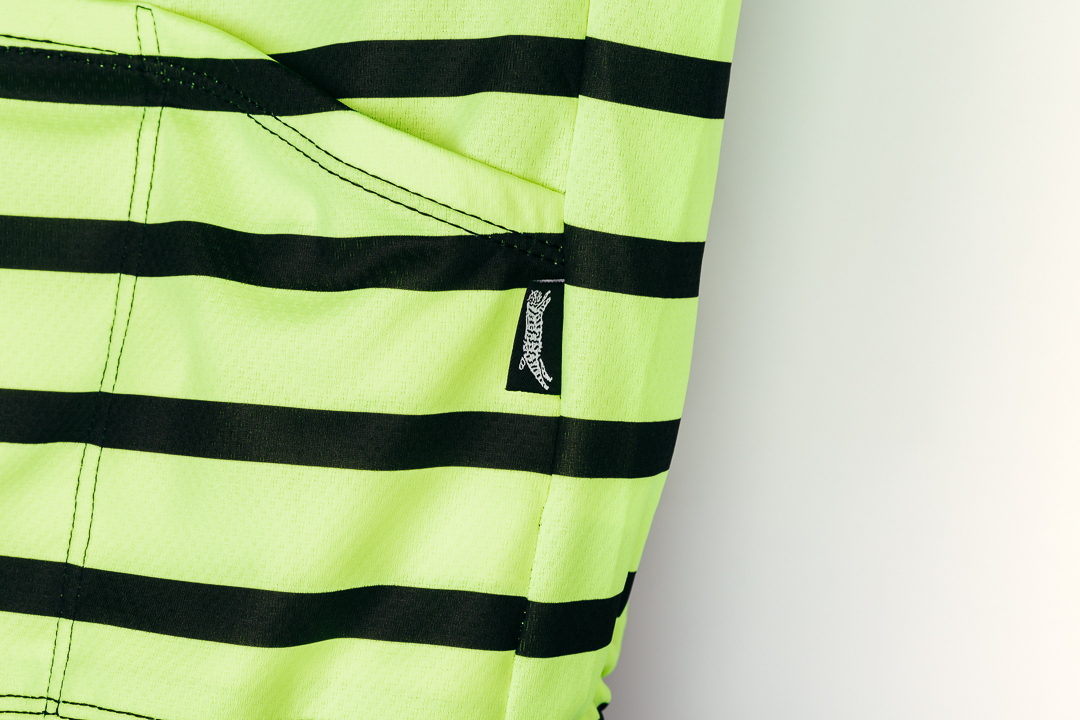 Team Dream Bicycling Team - DayGlo FFF Jersey - angled pockets and brand tab