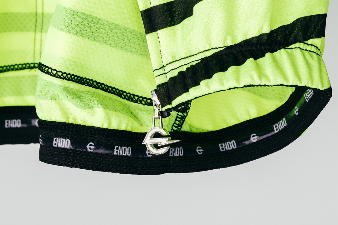 Team Dream Bicycling Team - DayGlo FFF Jersey - silicone gripper and zipper pull