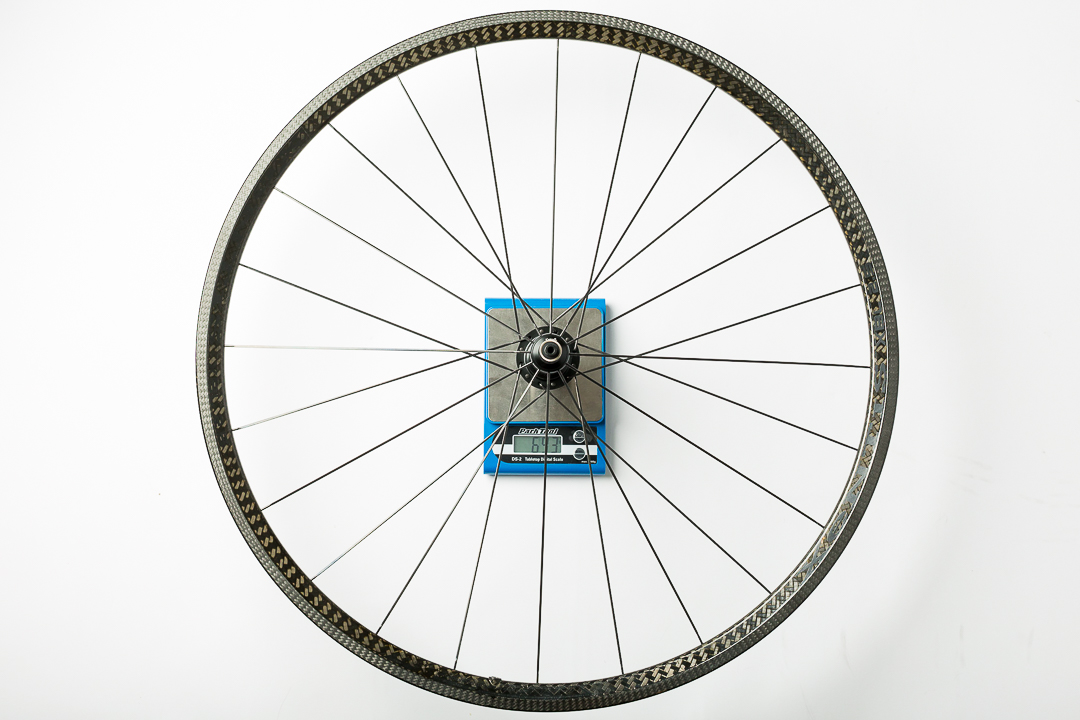 Xentis XBL 2.5 - rear wheel - on the scale