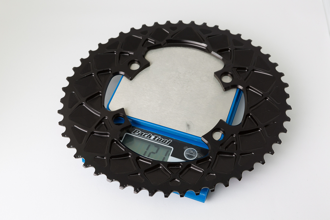 Absolute Black Oval Outer Chainring - 121 gram weight