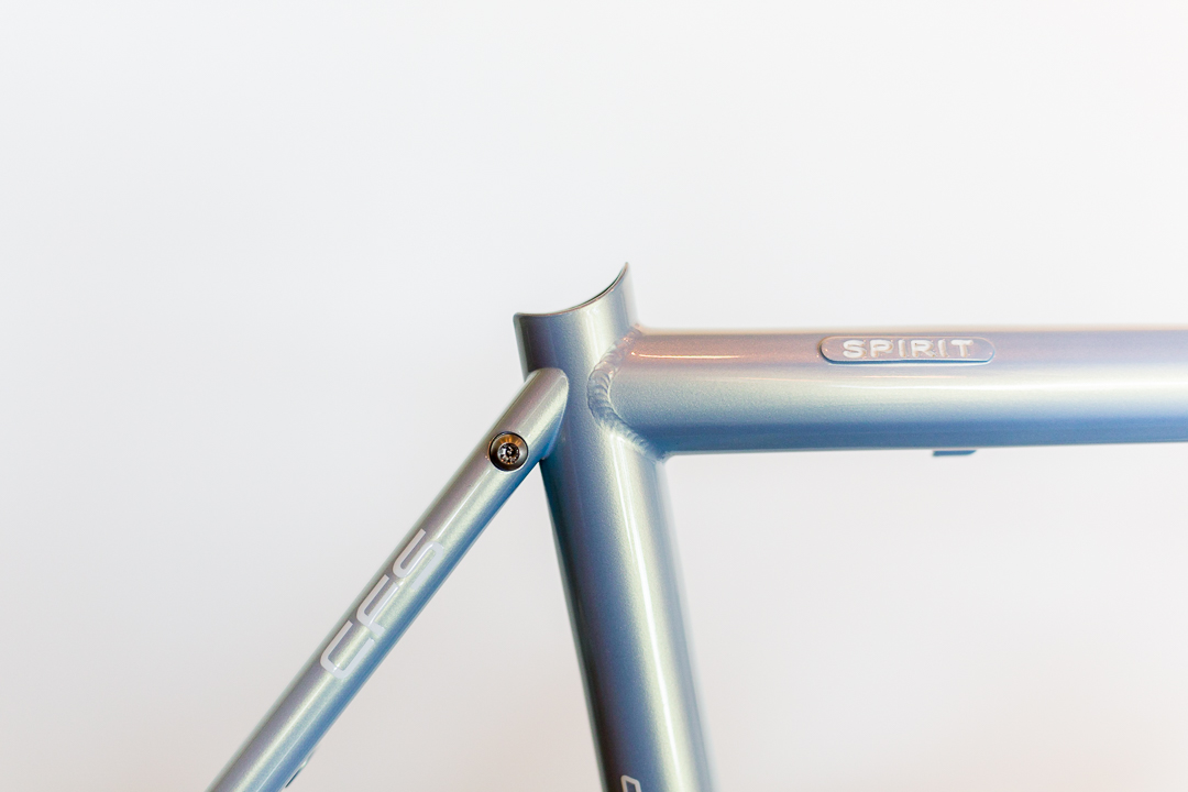 The seatpost junction on the Scapin R8 is gorgeous
