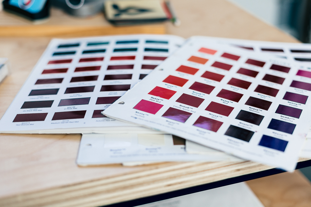 Paint swatches offer limitless choices for custom paint at VeloColour