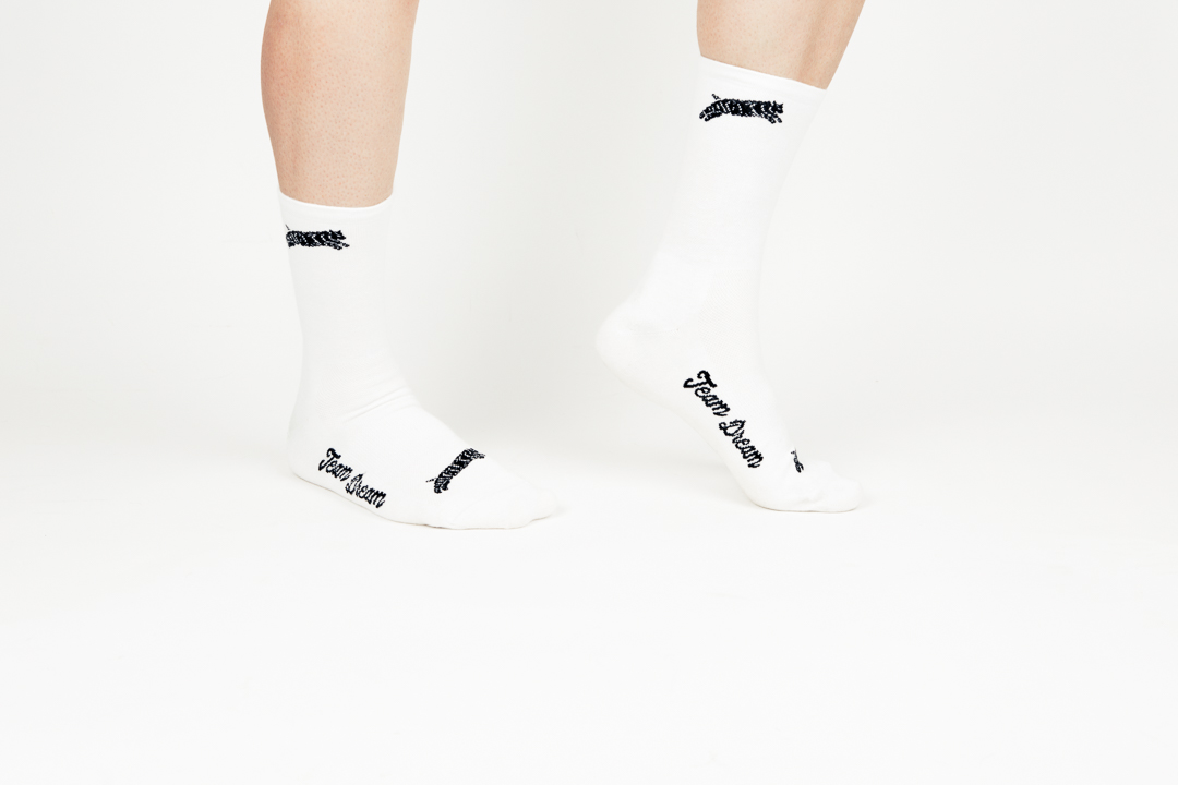 Chubby Bobcats uptop and Team Dream on the instep of the Team Dream Supreme Socks