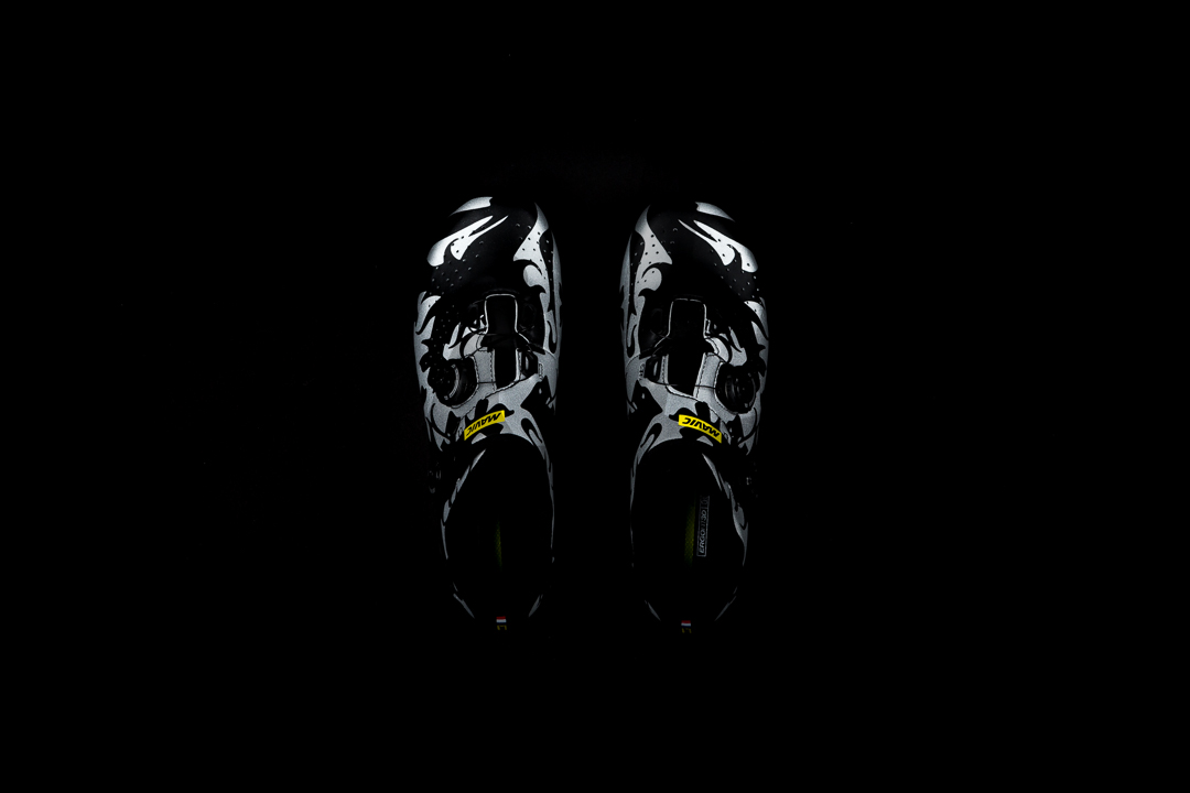 A top down view of the Mavic Cosmic Pro LTD gives you a sense of the widened and rounded toe box.