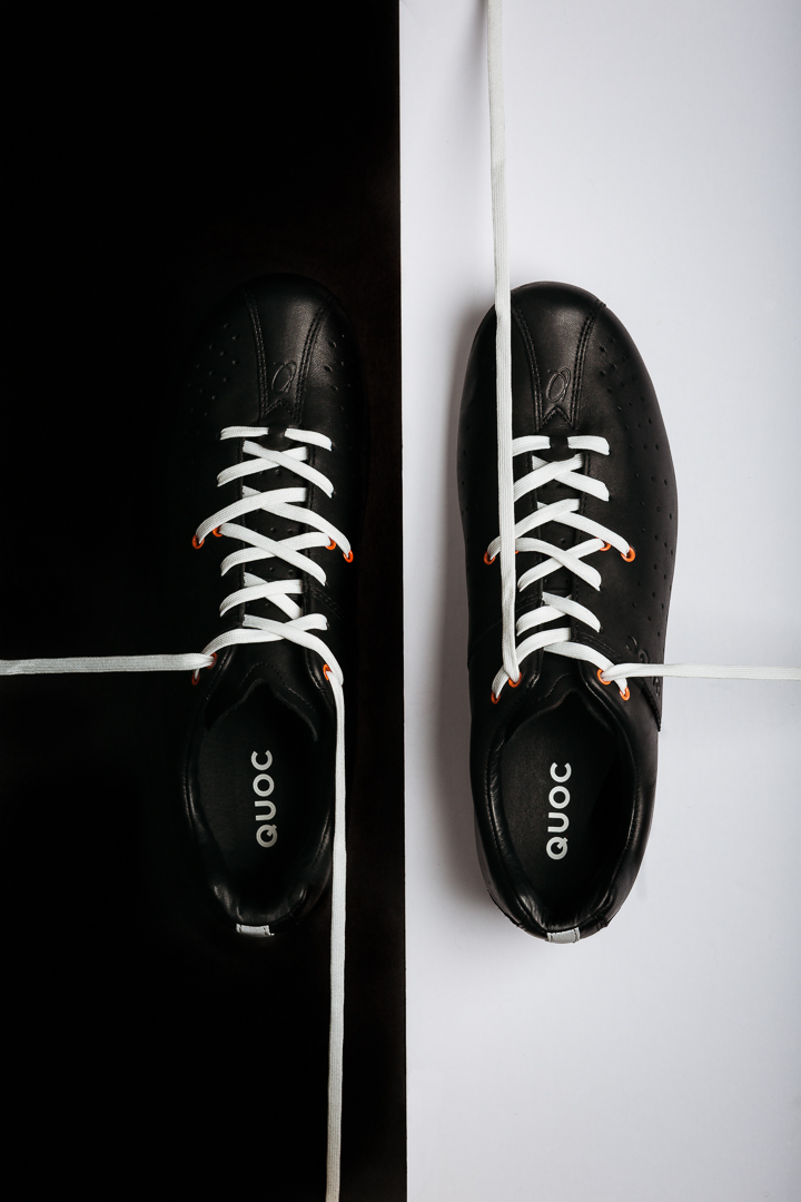 The Lace-lock system on the Quoc Pham Night shoe works well to create to seperate zones of tension on the foot.