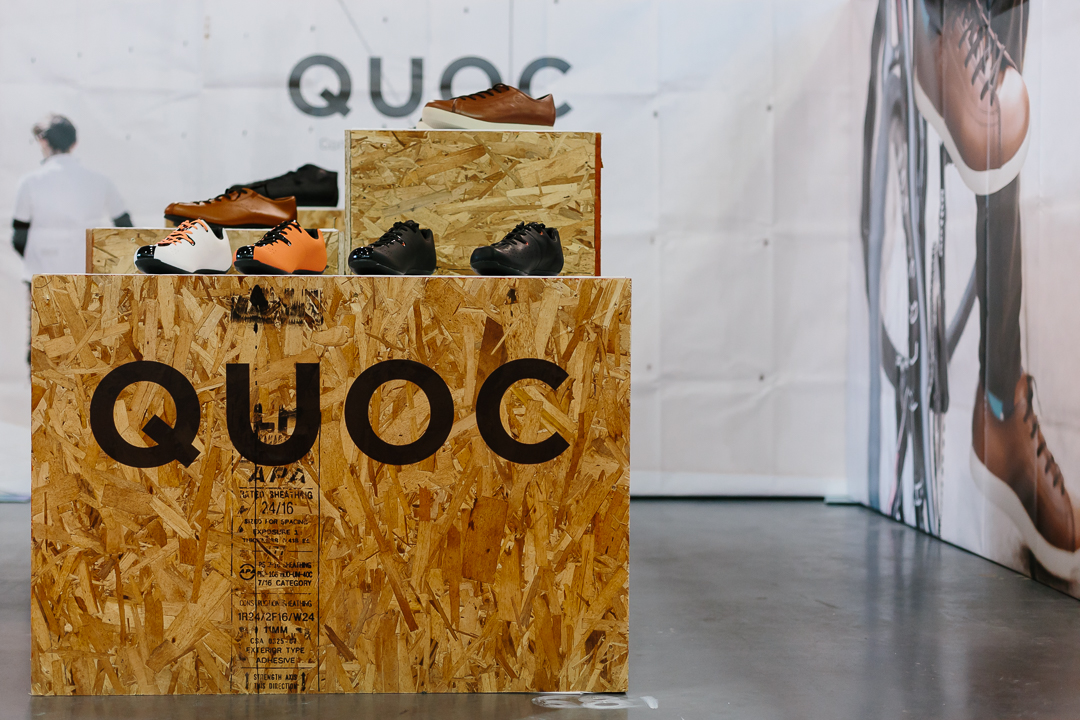 I first met Quoc at the Toronto Bike Show in 2016 where they were touring events with their road shoe prototypes.