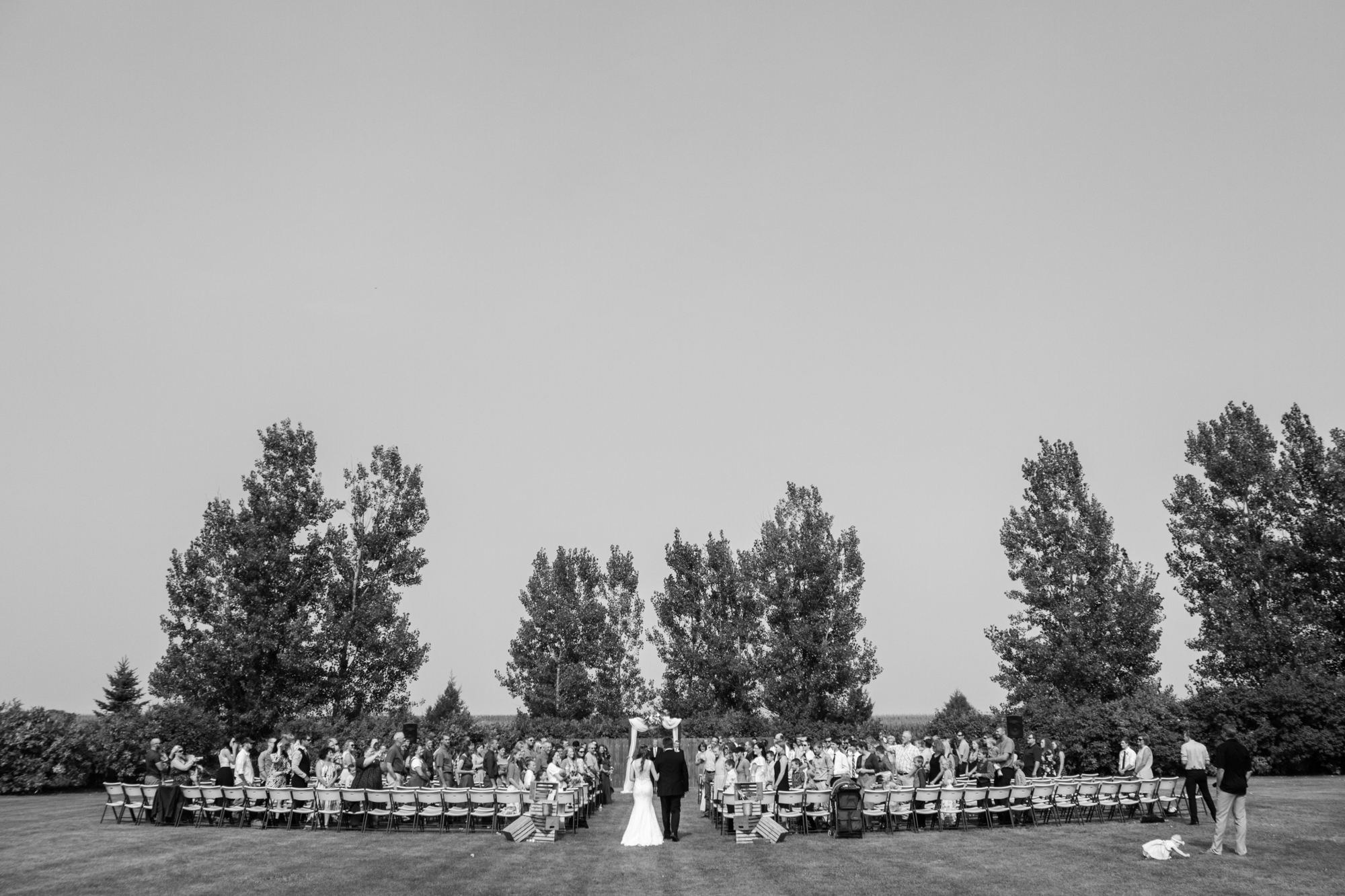 Intimate Backyard Wedding in North Dakota