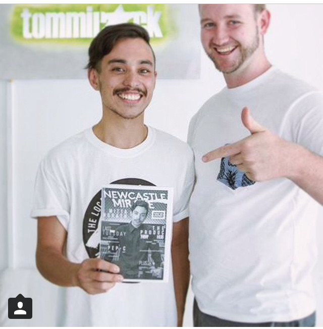 Kian with coverboy Mitta Norath from Tommirock Studios