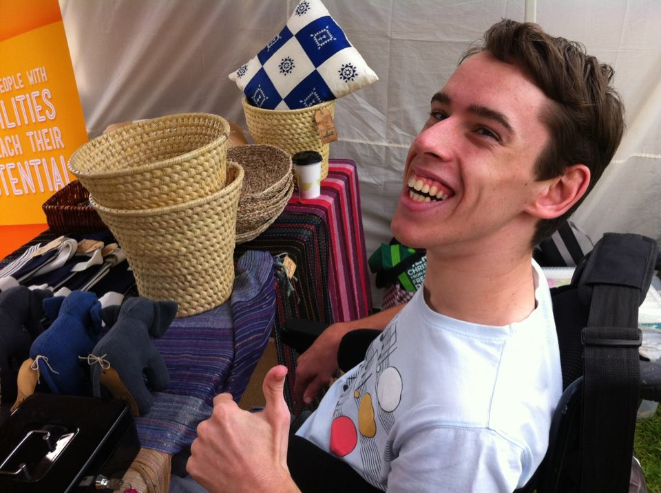 Dan at one of Avenue's market days in Sydney.