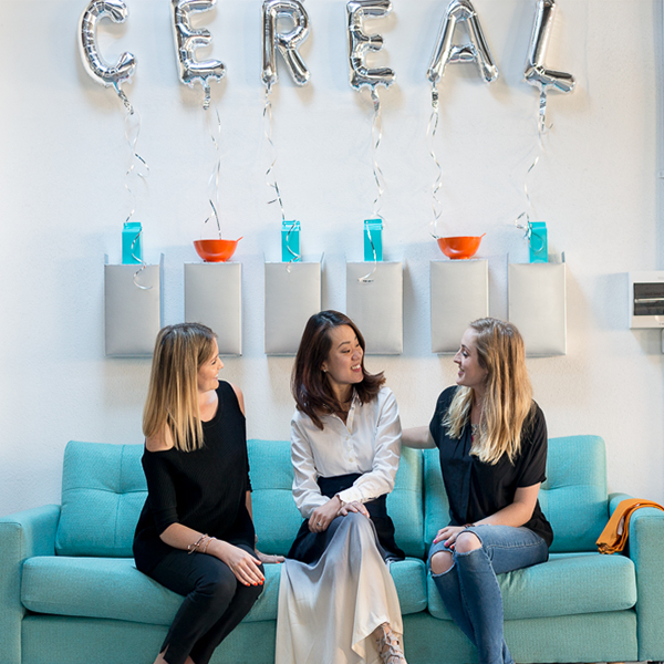 Tara Shelton, Nikki Lee from Unbirthday Bakery and me (Amy Lovat)