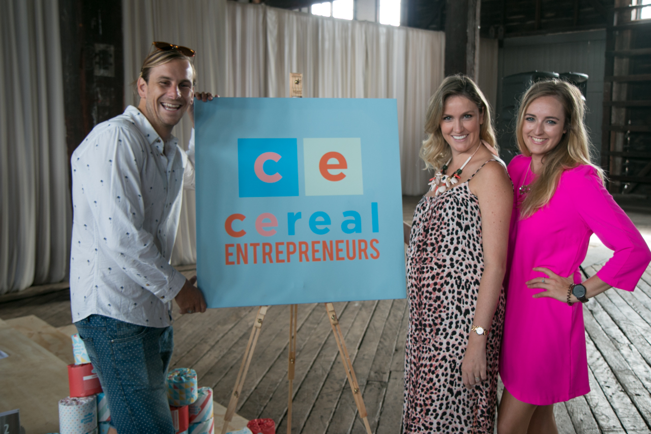 Joel, Tara from Dream & Do and me in the signature Cool People dress at Cereal Entrepreneurs last month.