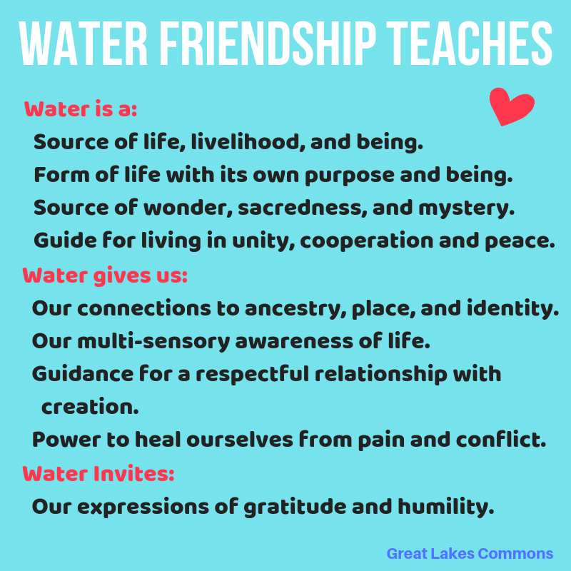 water friendship teachings