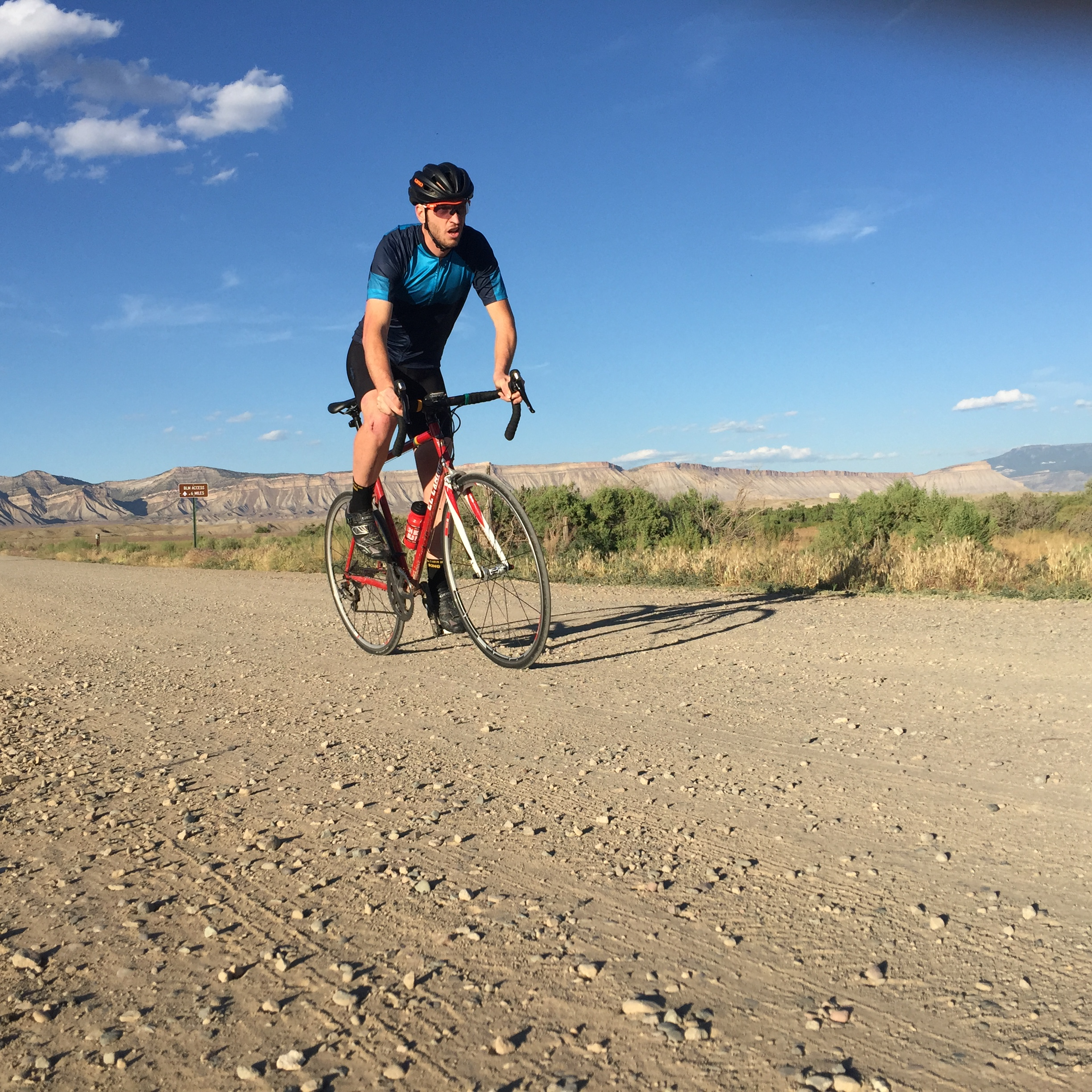 This photo is totally staged. I never grind any gravel on my road bike.