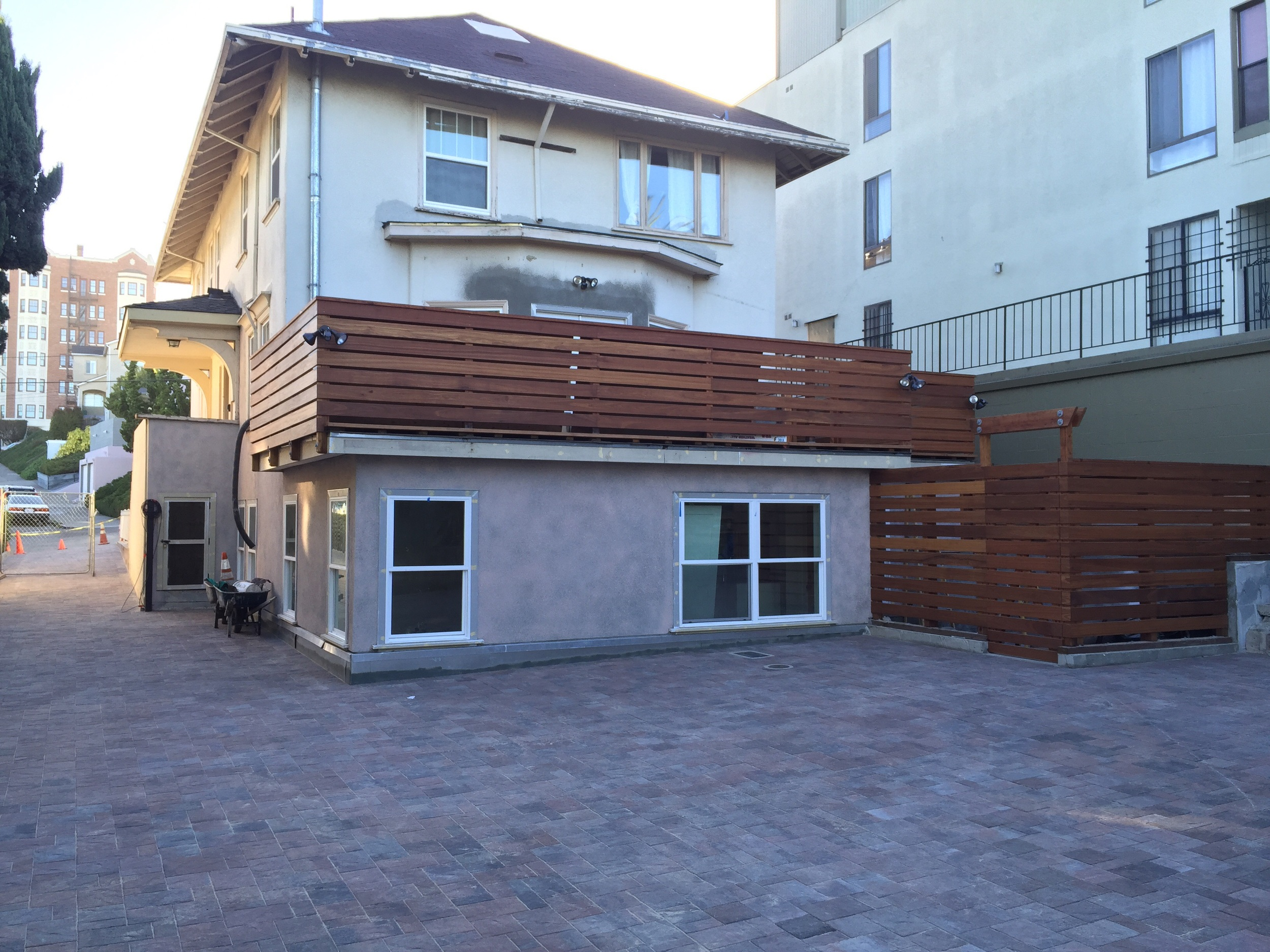 This is the place after stucco, redwood rooftop deck and enclosed private entrance.