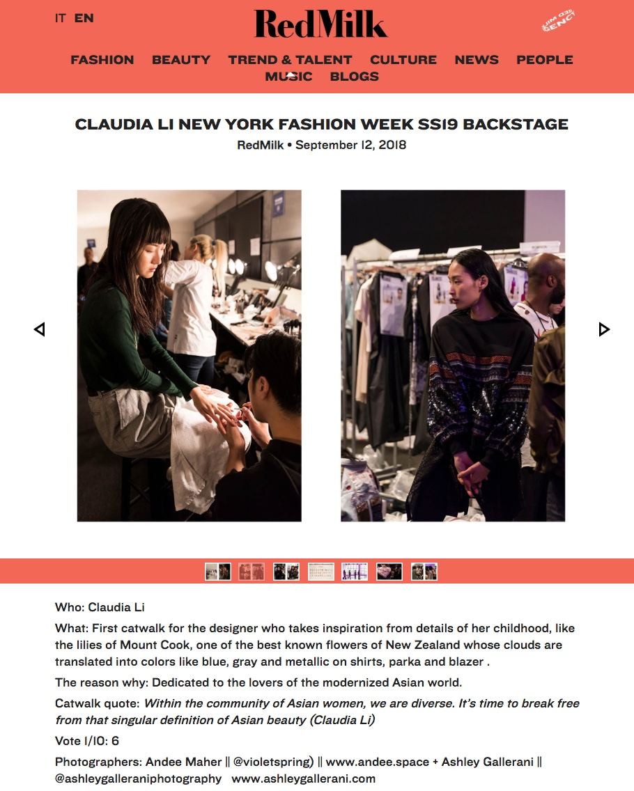 NYFW SS19 COVERAGE FOR REDMILK MAGAZINE