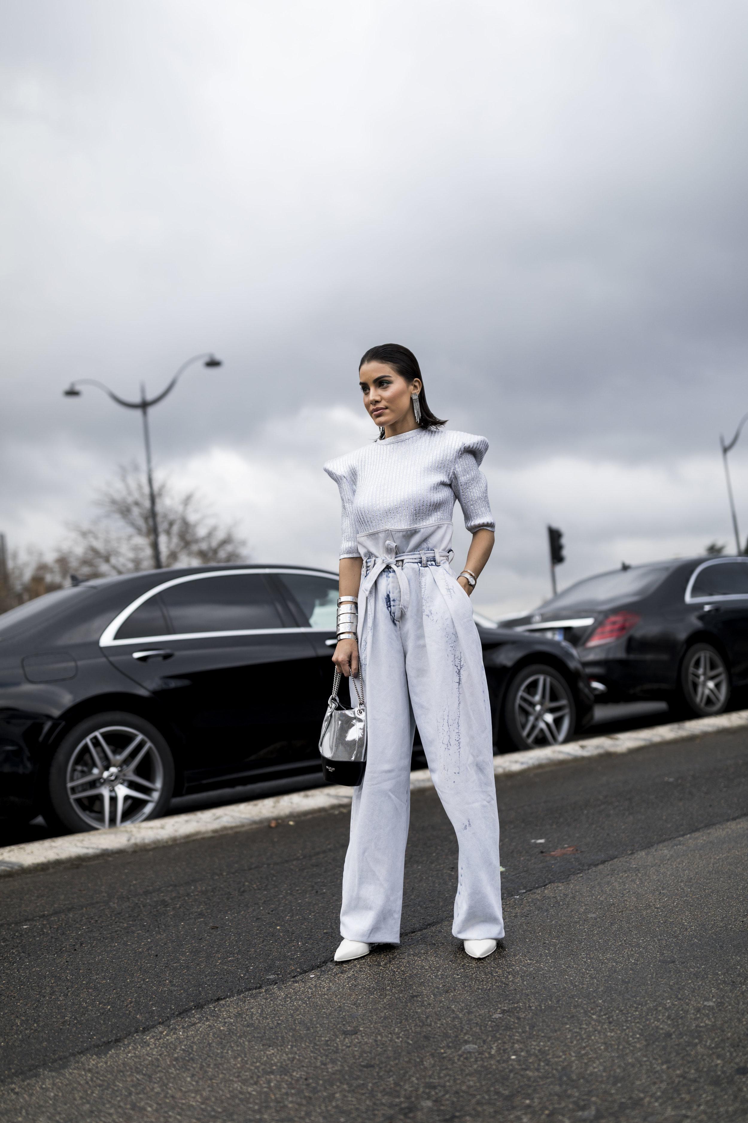 PFW, Paris, Street Style, Balmain, Camila Coelho, Ashley Gallerani Photography