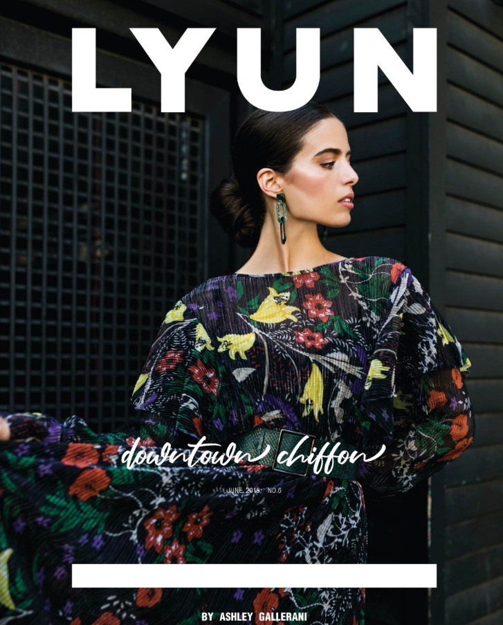 DOWNTOWN CHIFFON  EDITORIAL FOR LYUN MAGAZINE