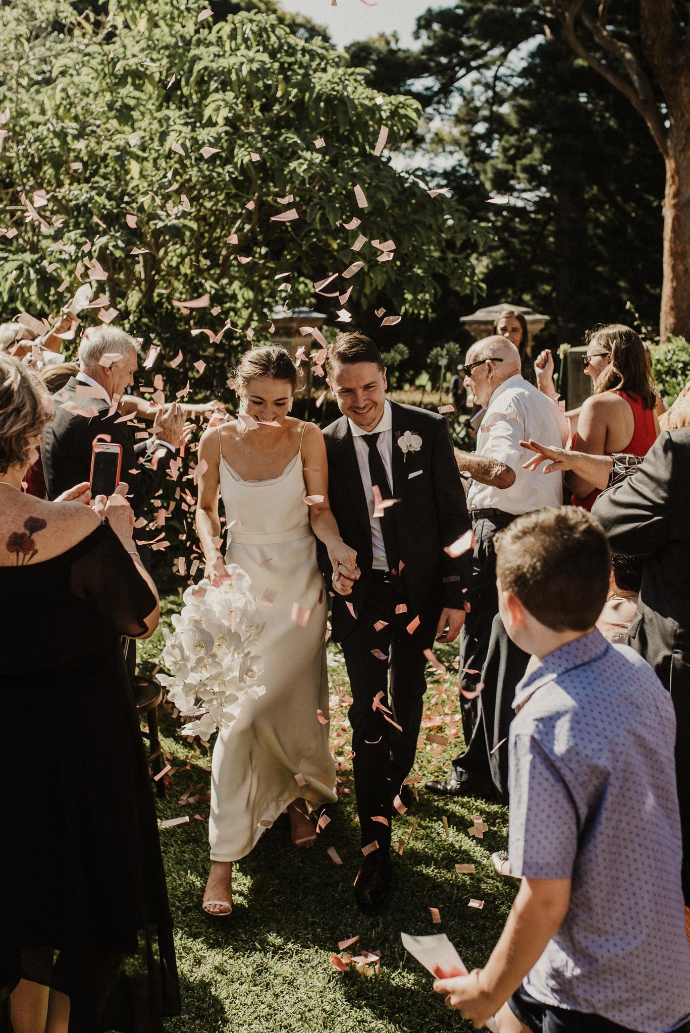 botanical gardens wedding / rochelle & anthony