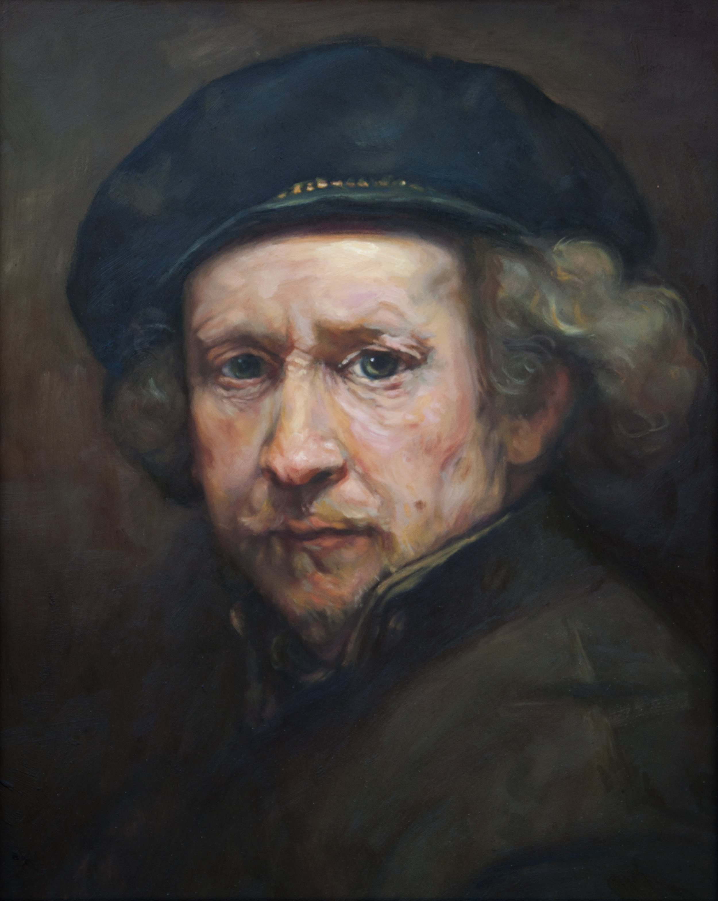 Master Copy - Self Portrait, Rembrandt Van Rijn