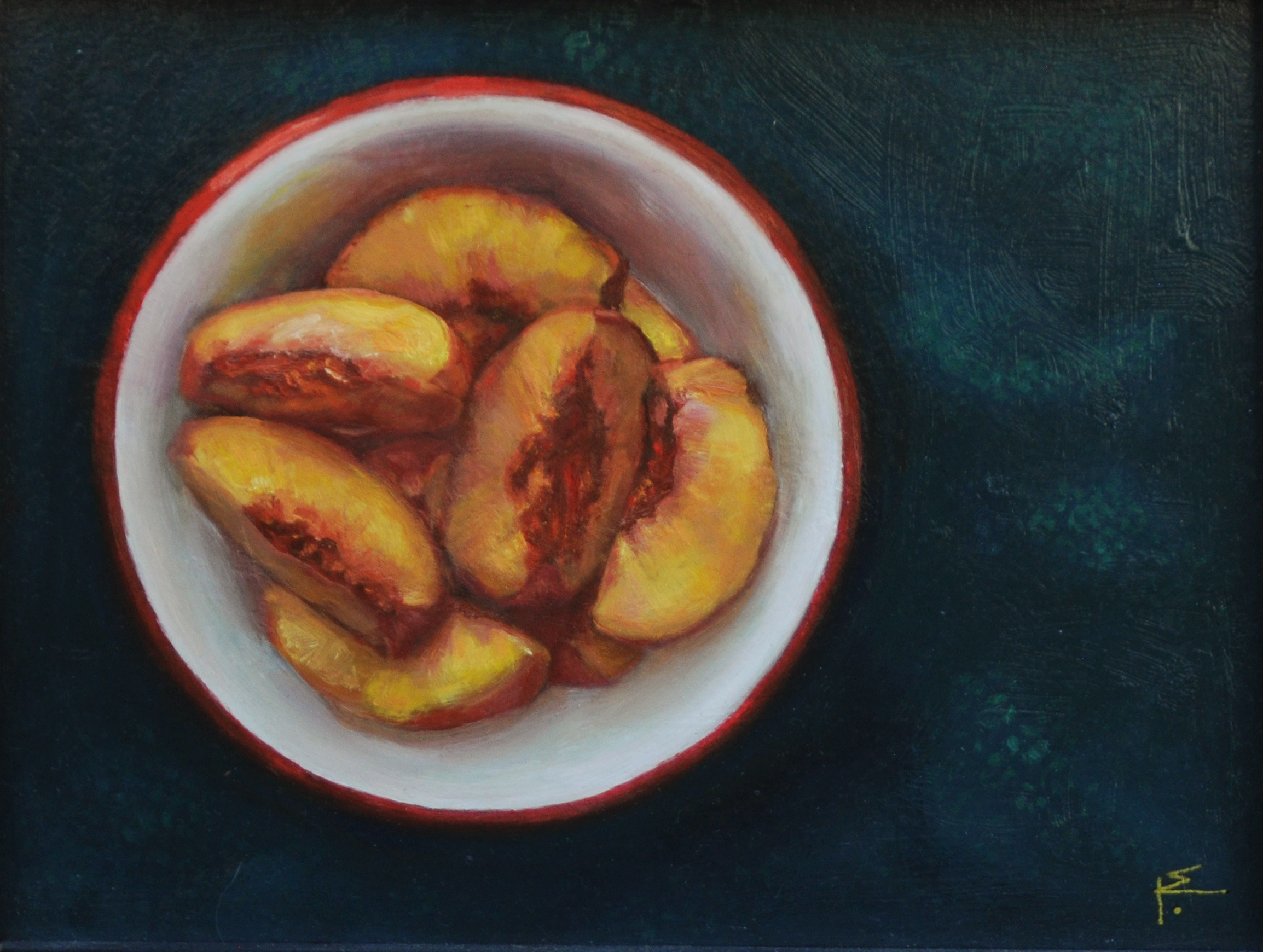 Peaches from Above, Oil