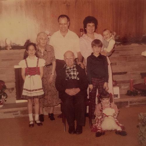 Christmas 1974. (That's me with the polar bear on the floor.)