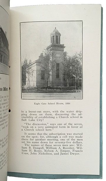 Eagle Gate School House 1886