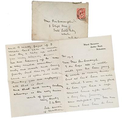 1912 December Someone in Felixstowe to my Great GrandmotherAlice