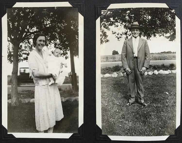 August 1930 -Benjamin Atkinson & Hilda Pinborough with 11 month old Bob (my dad). Salt Lake City Utah.