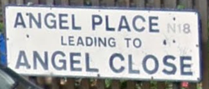 A little fun with Google maps. This sign is on a fence outside 65 Angel Close in England where Tilly lived in 1956.