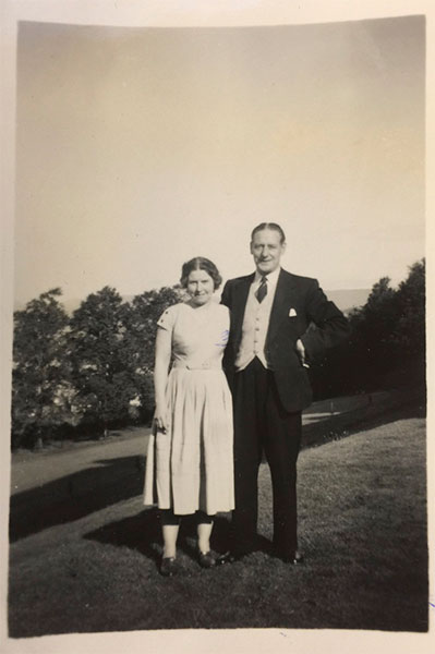 Mr. & Mrs. T. Luckins - Dunblane Hotel August 1956 Scotland.