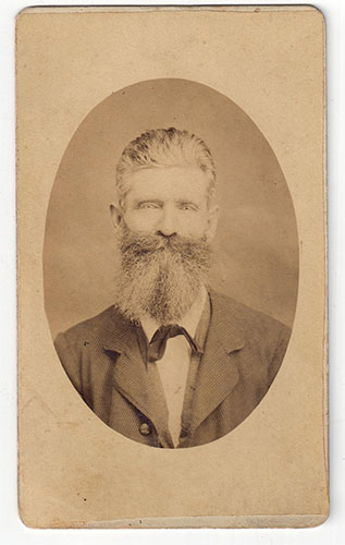 """Henry Mofield. My 3rd Great Uncle. Farmer,Private in Captain John Ireland's Co. Volunteers Civil War 1862. I like to think of him as the """"original hipster."""""""