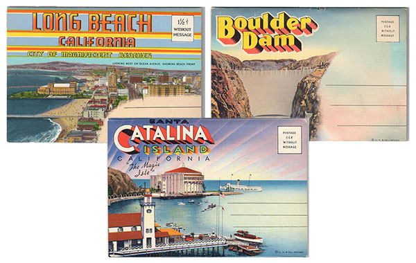 To see the complete  Long Beach, Catalina and Boulder Dam Postcard Booklets click here. )