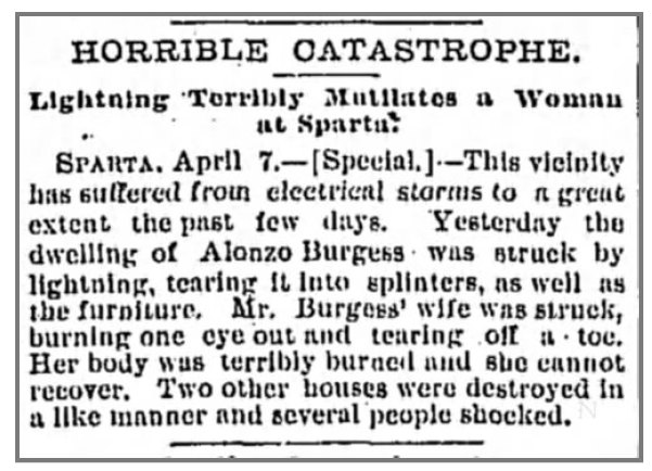 Excerpt from The Tennessean Nashville, TN Sat. Apr 8 1893. Page 4. Source: Newspapers.com