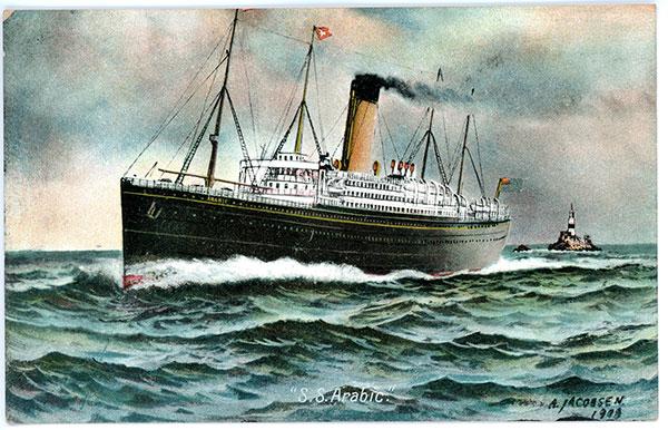 The White Star Line S.S. Arabic by Antonio Nicolo Gasparo Jacobsen aka A. Jacobsen.
