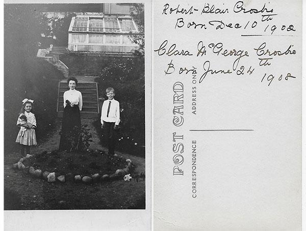 Clara Crosbie, Clara McGeorge Crosbie, Robert Blair Crosbie.