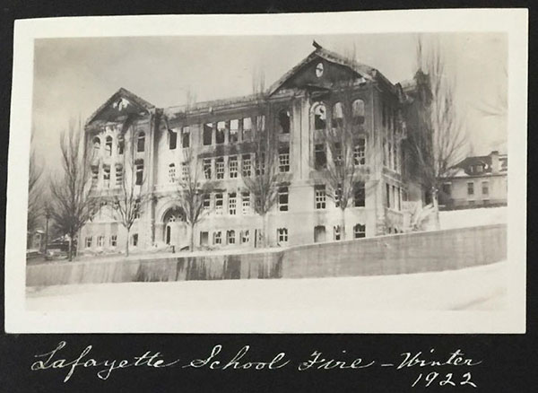 Lafayette School Fire - Winter 1922 - Salt Lake City, UT