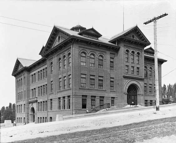 Image sourced from  Signature Books Library  - Seeing Salt Lake City by Alan Barnett [p.6]Lafayette School, 1904. Located on State Street above North Temple, this school burned down in 1922 and was replaced by a new building with the same name. Today a parking lot occupies the site. (Neg. 1153.)