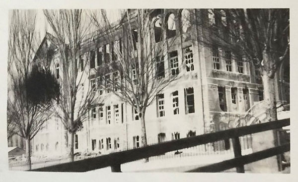 Lafayette School Fire - Salt Lake City, UT, 1922. This image was in Hilda's photo album.