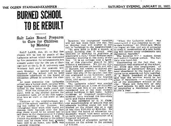 The Ogden Standard-Examiner January 21, 1922 Source: Newspapers.com
