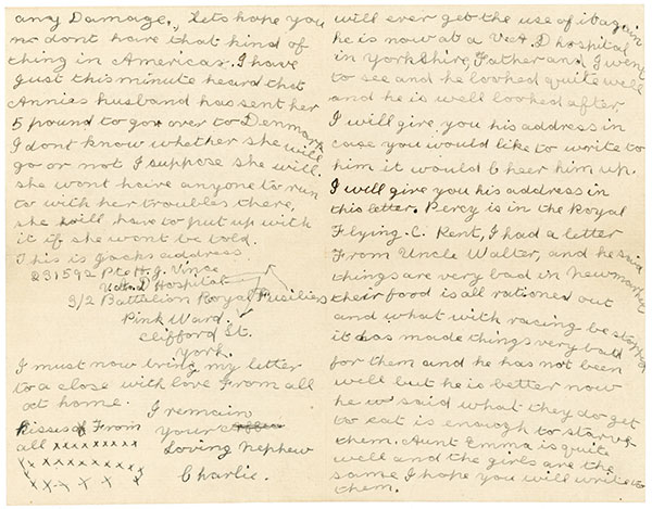 Charlie Vince letter page 2 and 4.