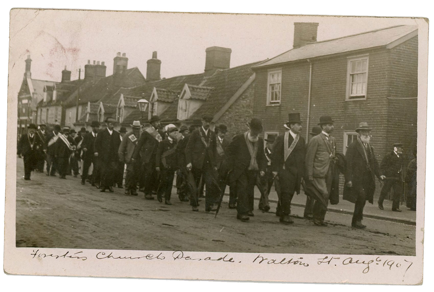Foresters Church Parade, Walton Street Aug 1907. I suspect Jim Witter is in this photo.
