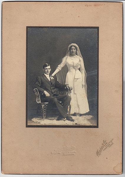 1911 Ellen Eckert & William Huebotter