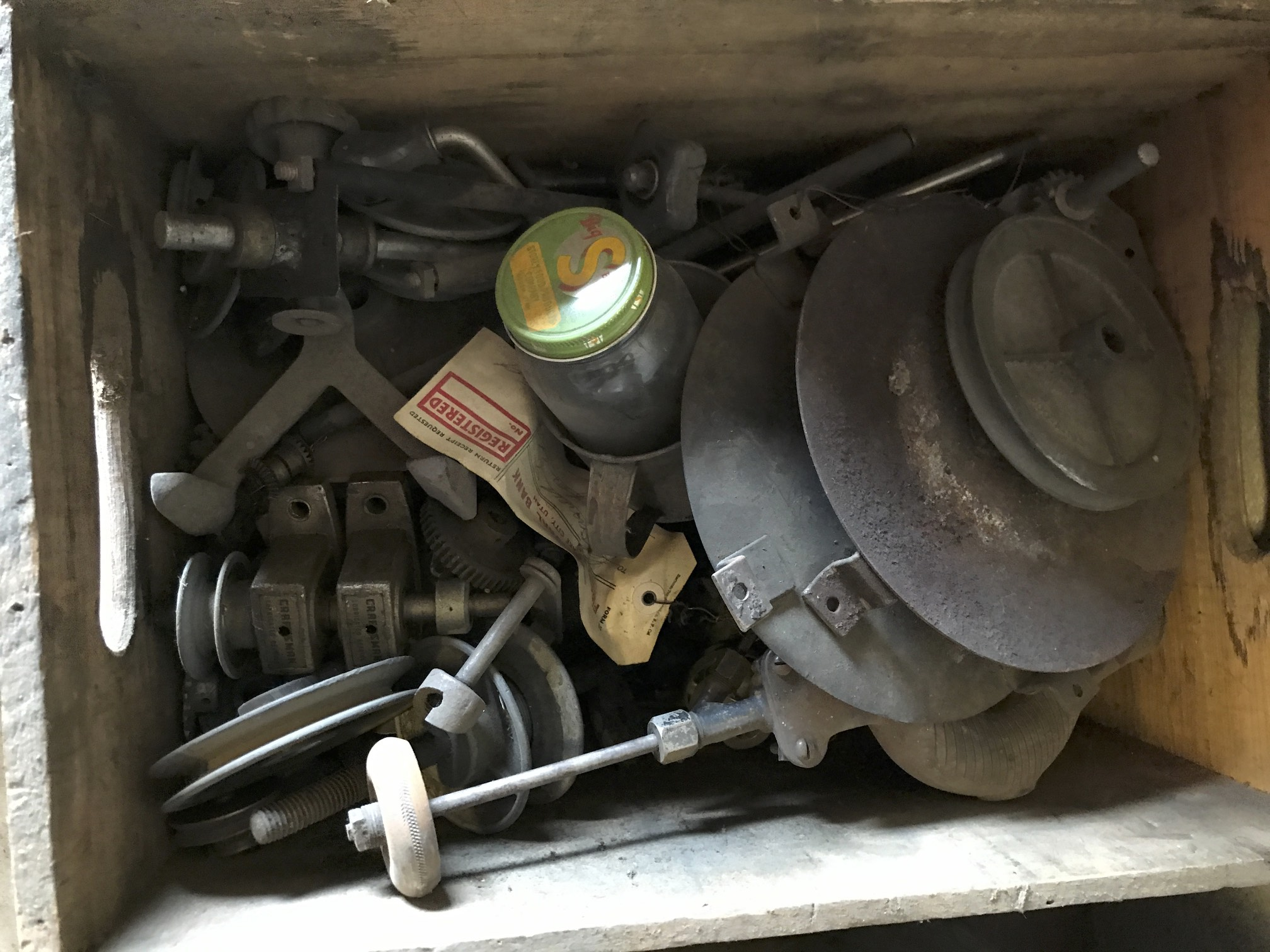(5) brace & bit part of burners/misc parts