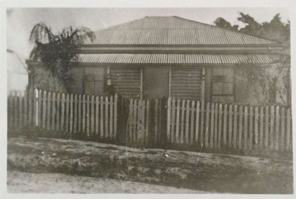 Benjamin Atkinson's family home in Brisbane, Australia. Not sure if same as the one referenced in the letter below. The family arrived there 12 Dec 1889 and departed 1900 to USA